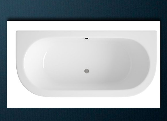 Bath tub Double ended D-Shape Back To Wall
