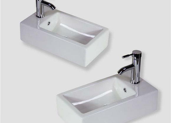 Basin Sink Wall Hung Mounted Bathroom Cloakroom Corner Ceramic