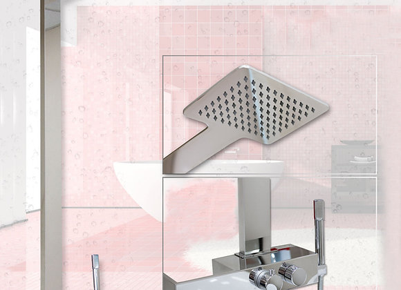 Thermostatic Shower Mixer Panel handheld Twin head set Tap Faucet Column