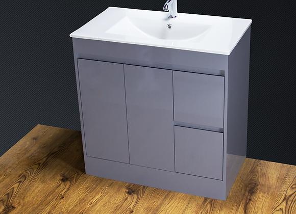 Vanity Unit Cabinet Basin Sink Doors Cloakroom Bathroom 800MM FREE Tap Waste