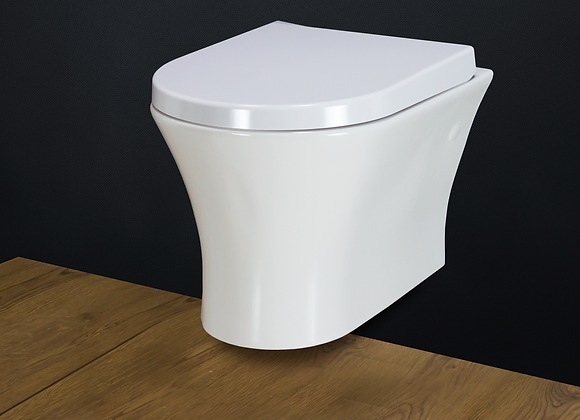 Toilet WC Wall hung mounted with Soft Close Seat