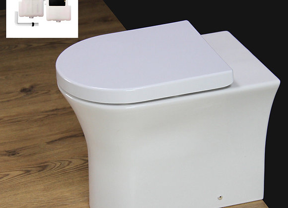 Toilet Bathroom Back to Wall Ceramic Rimless Concealed Cistern