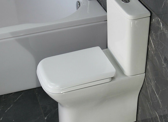 Toilet Close Coupled Soft Closing Seat 450 mm pan H