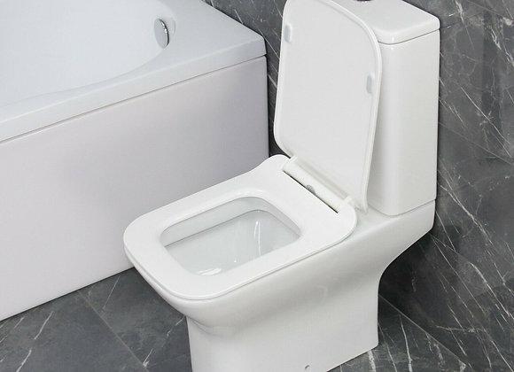 Toilet WC Close Coupled Square Toilet Seat