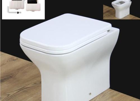 Back to wall Toilet WC Soft Closing Seat 400 mm pan H