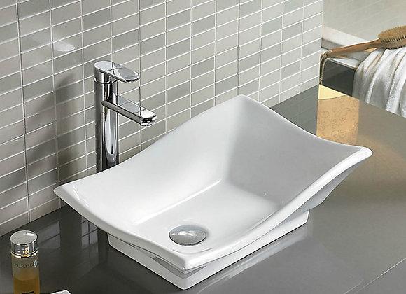 Basin Sink Bowl Ceramic Counter top Corner