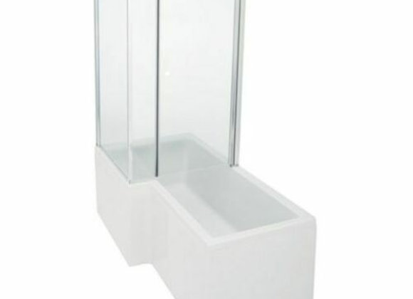 Shower Enclosure L shape bath