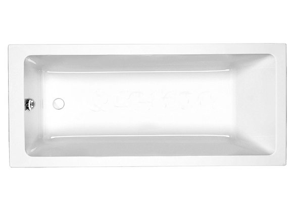 Bath tub Single Ended Straight White Acrylic