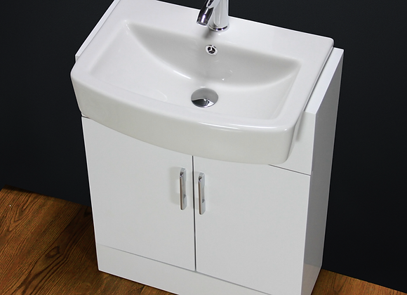 Vanity Unit Cabinet Basin Sink Bathroom Floor mounted Square Ceramic 600mm W