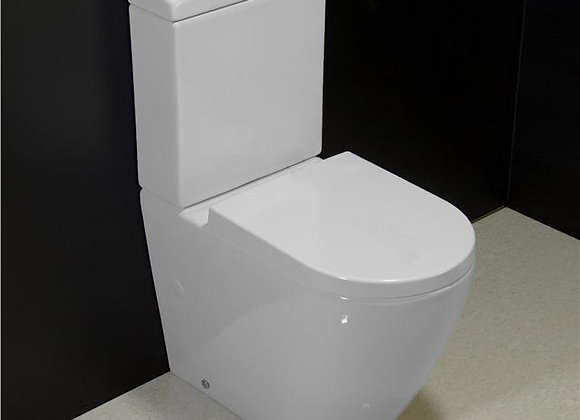 Toilet WC Close Coupled Rimless