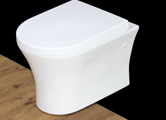 Toilet WC Bathroom Wall Hung Mounted Soft Close Seat Cover