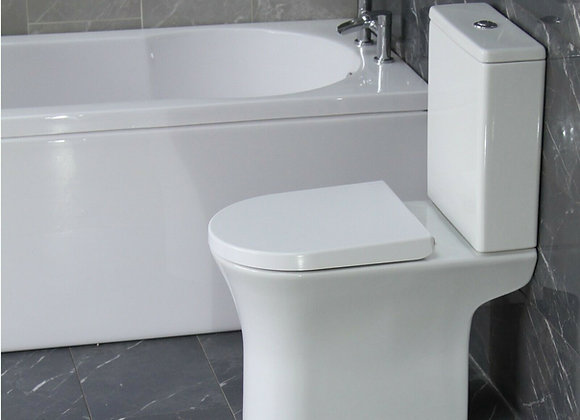Toilet WC Close Coupled Soft Closing Seat