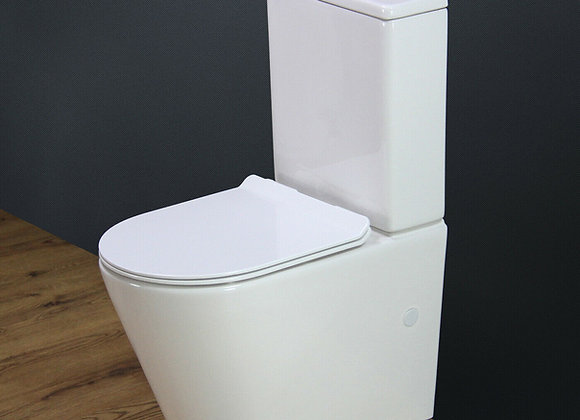 Toilet Close Coupled Soft Closing Seat 400mm pan H