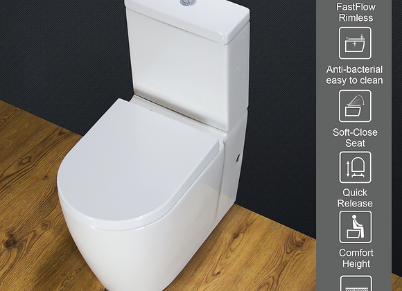 Toilet WC Cloakroom Close Coupled Comfort Height