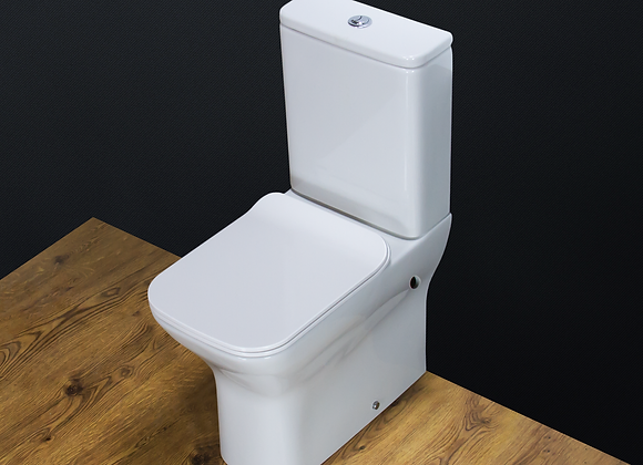 Toilet WC Close Coupled Cloakroom Slim Heavy Duty Seat