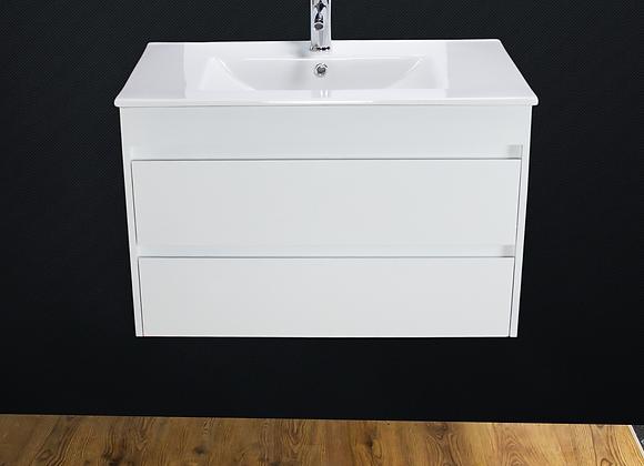 Bathroom Vanity Unit Cabinet Basin Sink Wall Hung 800 MM