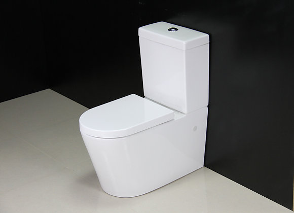 Toilet Close Coupled Metal Hinges Seat Cover