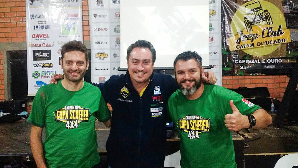 Alexandre Rech, Rafael Cardoso e Tiago Poisl