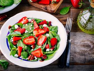 Receita de salada crocante de morango