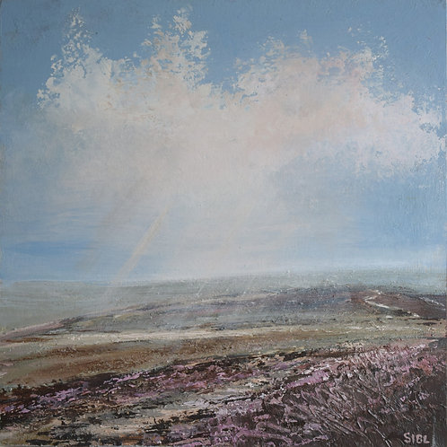 Up with the skylarks, Ilkley Moor