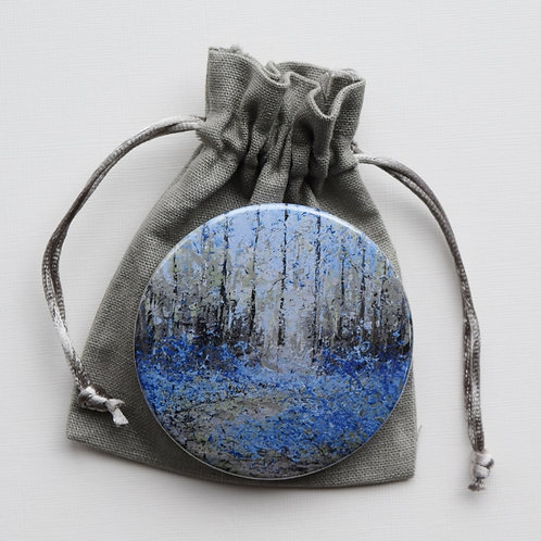Bluebell Woods pocket mirror and pouch