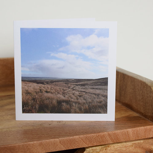 Greeting card - From Poetry Seat, Ilkley Moor