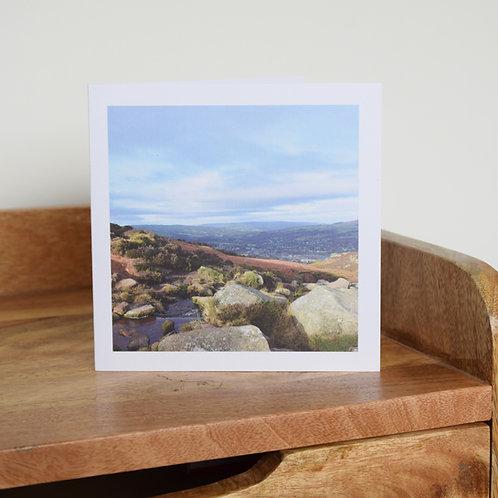 Greeting card - Backstone Beck, Ilkley Moor