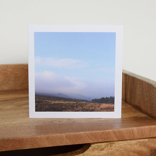 Greeting card - Morning mist, Ilkley Moor