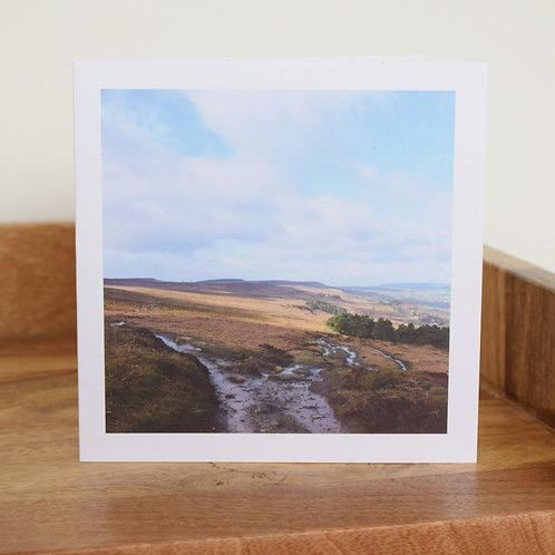 Greeting card - Above White Wells, Ilkley Moor