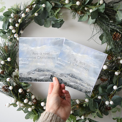 Set of 6 Snow on Ilkley Moor Christmas Cards