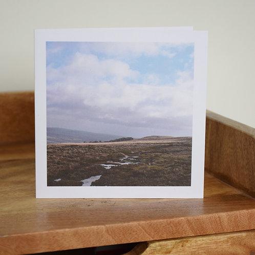 Greeting card - Below Badger Stone, Ilkley Moor