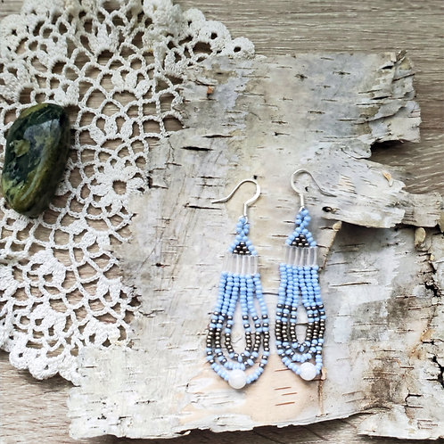 Blue and Howlite Dangles