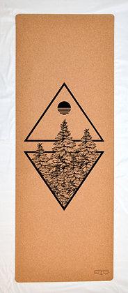 Cork Yoga Mat - Forest