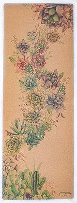 Cork Yoga Mat - Succulents