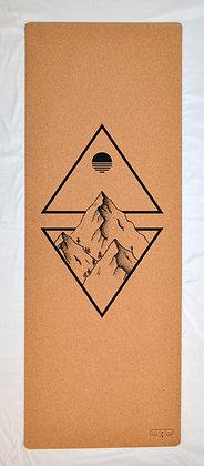 Cork Yoga Mat - Mountains