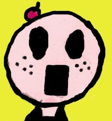 Um retrato daadolecencia: Uma cabeça feia e cheia de espinhas. A ideia da cereja na cabeça era a seguinte: Se funciona com os bolos, porque não vai funcionar comigo?