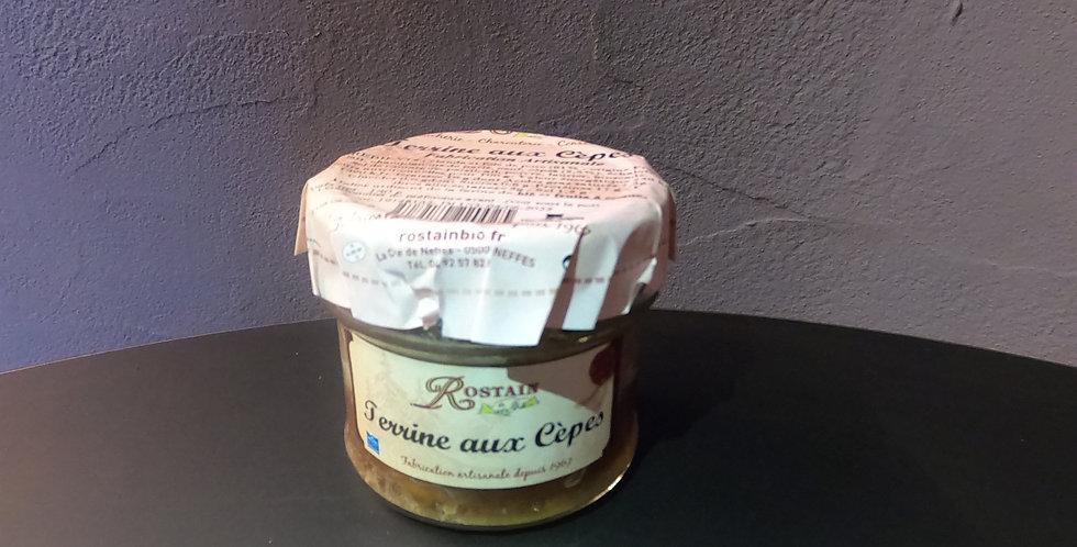 Terrine Rostain des Hautes-Alpes aux Cèpes 180g