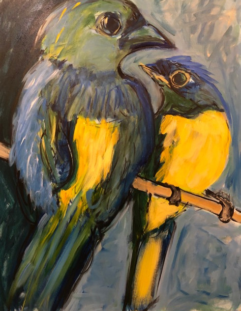 Tanager and Niltava_2019_acrylic_40_ x 30_.jpg