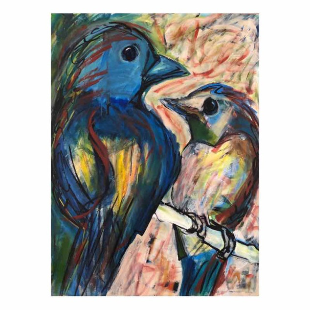 Tanager and Niltava II_2019_acryliconcanvas_40_x30_.jpg