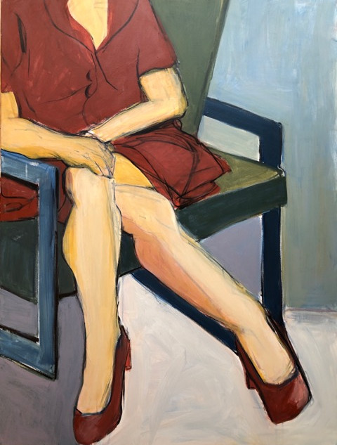 Red Dress_Red Shoes II_2019_acrylic on canvas_ 40_ x 30_.jpg