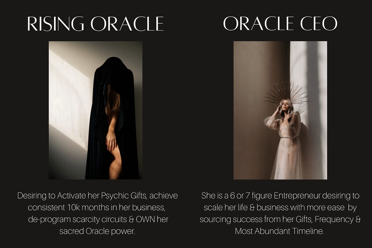 oracle intuiton development business coaching hypnosis