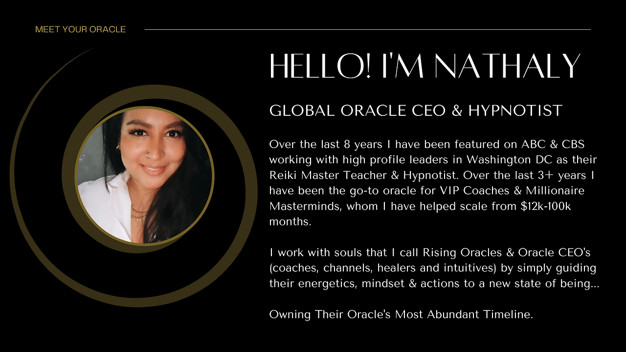 nathaly granja oracle ceo business priestess psychic millionaire mindeset