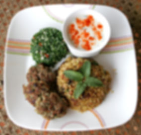 Frikke kebab tabbouleh at Earth Kitchen homestay farmstay