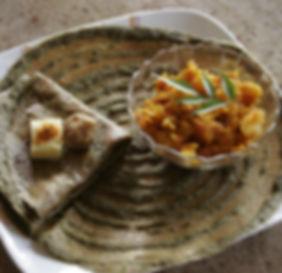 Pessarattu dosa at Earth Kitchen homestay farmstay