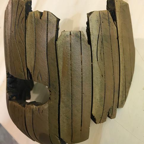 Wood Hannibal Lector Mask