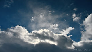 空,雲,太陽