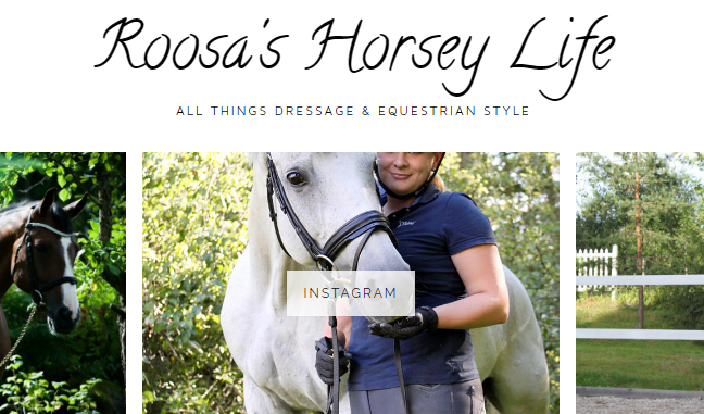 We featured on Roosa's Horsey Life