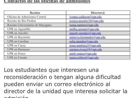 Reconsideración Sistema UPR