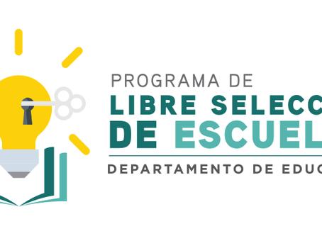 Programa de Libre Selección de Escuelas del Departamento de Educación de Puerto Rico