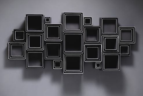 Marco Paghera scultura in metallo - metal sculpture - abstract geometric sculptures - minimal art